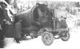 En luftig førerplass vinterstid.