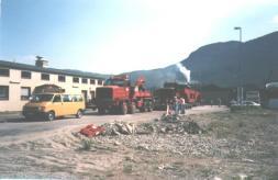 Transport av transformator til Austarheim 20.08.1995